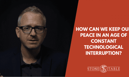 How can we keep our peace in an age of constant technological interruption?